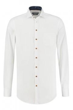 Ledûb Modern Fit Hemd - Weiß