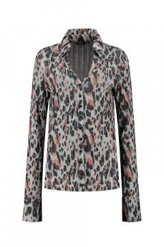 Chiarico - Bluse Liv Grey Animal