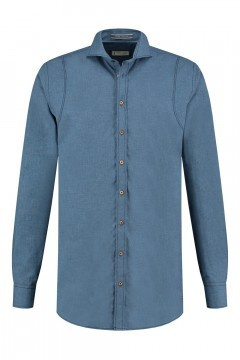 Blue Crane Tailored Fit Hemd - Denimblau