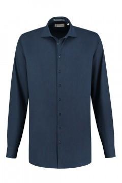 Blue Crane Tailored Fit Hemd - Denim Dunkelblau
