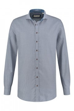 Blue Crane Tailored Fit Hemd - Dunkelblau/Weiß