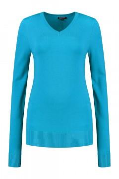 Casa Mia - V-Ausschnitt Pullover Blau