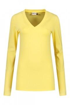 Highleytall - V-Ausschnitt Langarmshirt Gelb