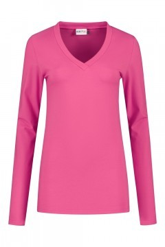 Highleytall - V-Ausschnitt Langarmshirt Rosa