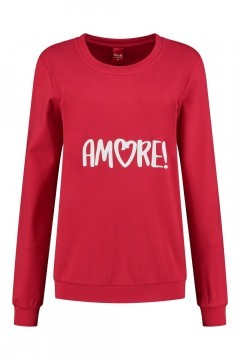 Only M - Pullover Amore Rot