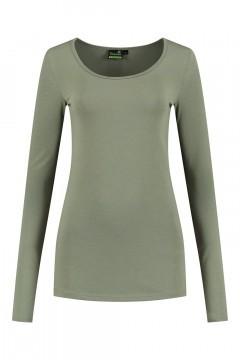 Sequoia - Basic Langarmshirt Khaki
