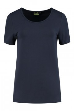 Sequoia - Basic Kurzarmshirt Navy
