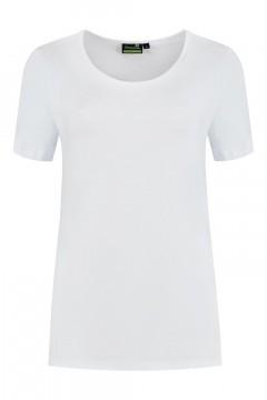 Sequoia - Basic Kurzarmshirt Weiss