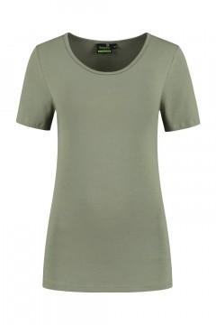 Sequoia - Basic Kurzarmshirt Khaki
