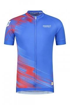 Panzeri Stelvio - Radsporthemd blau/rot