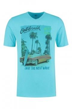 Kitaro T-Shirt - California Blau