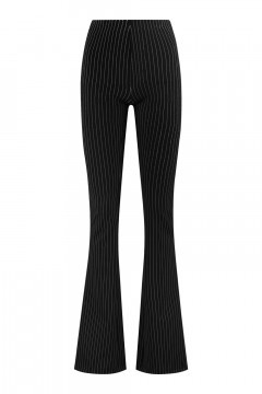 Madame Liz - Legging Flared Gestreift Schwarz