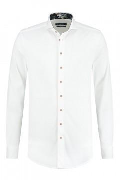 Ledûb Modern Fit Hemd - White Structure