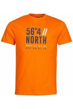 North 56⁰4 T-shirt - Coordinates Orange