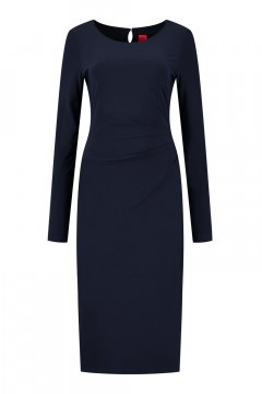 Only M - Kleid Snooze Falten Navy