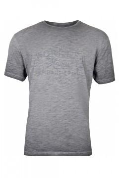 Replika Jeans T-Shirt - Workers Dunkelgrau