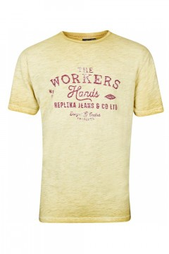 Replika Jeans T-Shirt - Workers Mustard
