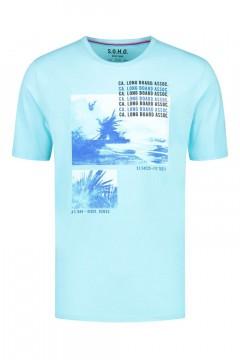 SOHO T-Shirt - Long Board Aqua