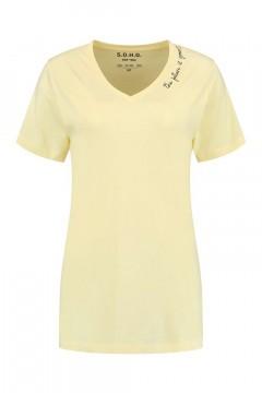 SOHO V-Ausschnitt Shirt - Future Vanilla