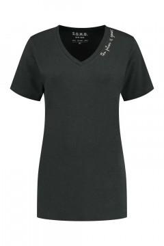 SOHO V-Ausschnitt Shirt - Future Carbon