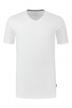 Kitaro T-Shirt - Basic V-Ausschnitt Weiß