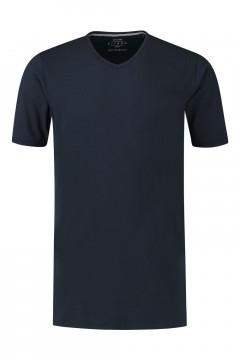 Kitaro T-Shirt - Basic V-Ausschnitt Dunkelblau
