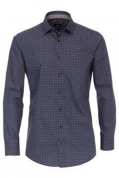 Venti Modern Fit Hemd - Dunkelblau/Muster