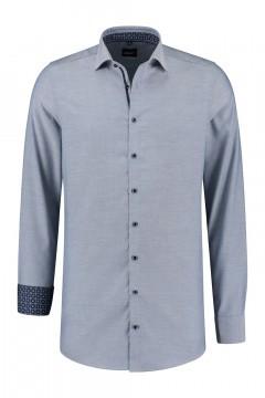 Venti Modern Fit Hemd - Blau/Weiss