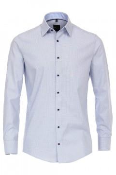 Venti Modern Fit Hemd - Blau-Weiß