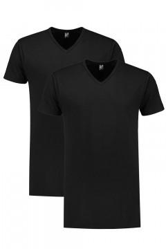 Alan Red T-Shirt - Vermont Schwarz Extra Lang - 2/pack