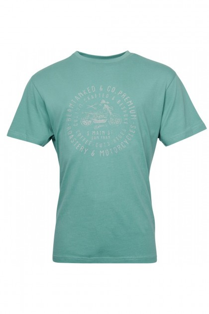 Replika Jeans T-Shirt - Barber Green