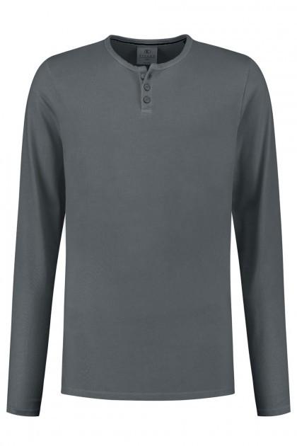 Kitaro Langarm T-Shirt - Grau