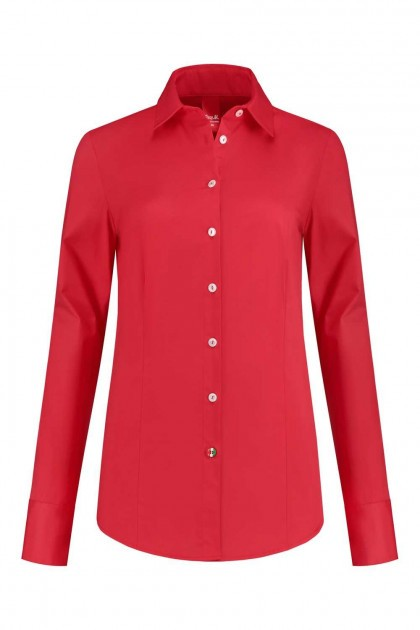 Only M - Bluse Basic Rot