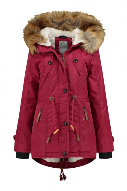 Brigg Winterjacke - Fellrand Rot