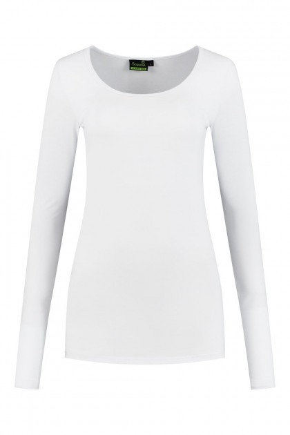 Sequoia - Basic Langarmshirt Weiss