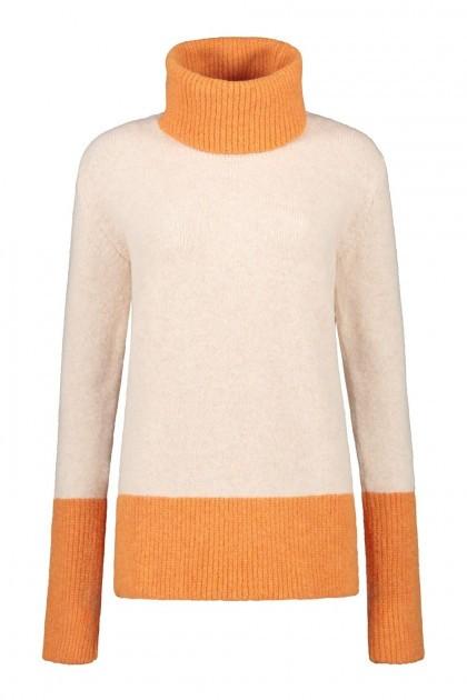 Only M Pullover - Kragen Cremefarben