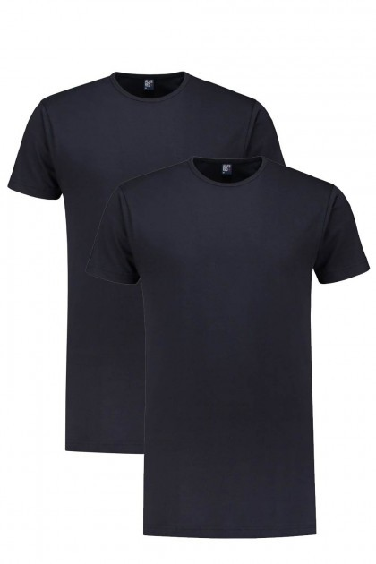 Alan Red T-Shirt - Derby Navy Extra Lang/2-pack