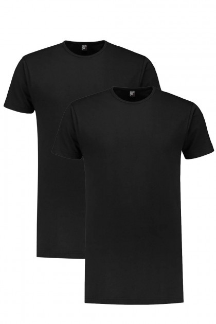 Alan Red T-Shirt - Derby Schwarz Extra Lang/2-pack