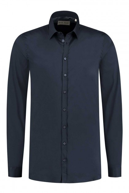 Blue Crane Slim Fit Hemd - Dunkelblau