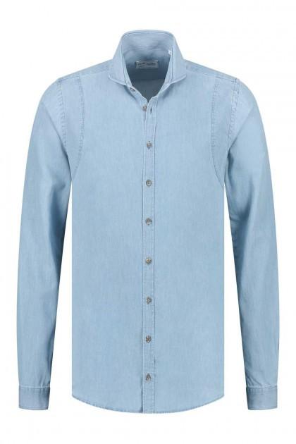 Blue Crane Slim Fit Hemd - Hellblau