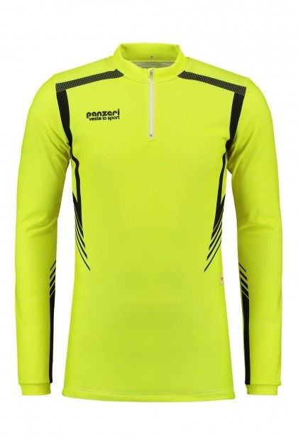 Panzeri San Diego - Shirt Long Sleeves Zip Neon Yellow