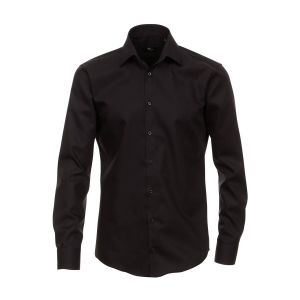 Venti Slim Fit Hemd Schwarz