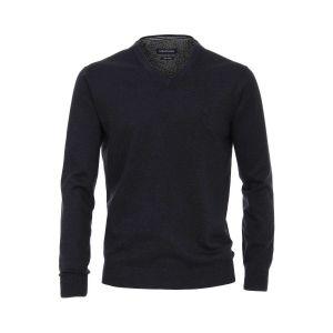 Casa Moda V-Ausschnitt Pullover - Dunkelblau