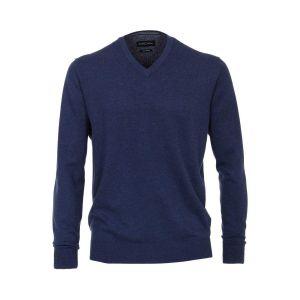 Casa Moda V-Ausschnitt Pullover - Blau
