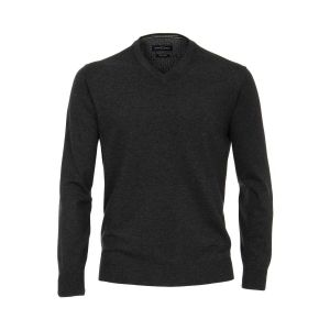 Casa Moda V-Ausschnitt Pullover - Dunkelgrau