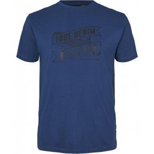 Replika Jeans T-Shirt - True Denim Indigo Blue