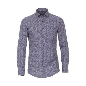 Venti Modern Fit Hemd - Blue Paisley