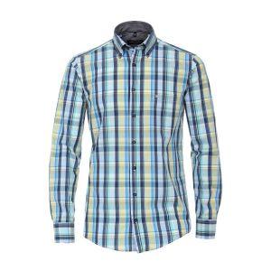 Casa Moda Casual Fit Hemd - Blau/Diamanten