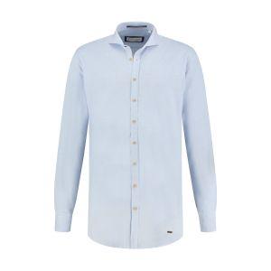Blue Crane Slim Fit Hemd - Hellblau Melange