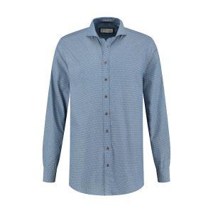 Blue Crane Tailored Fit Hemd - Blau/Muster
